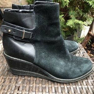 Cole Haan Winter Wedge Ankle Booties Waterproof